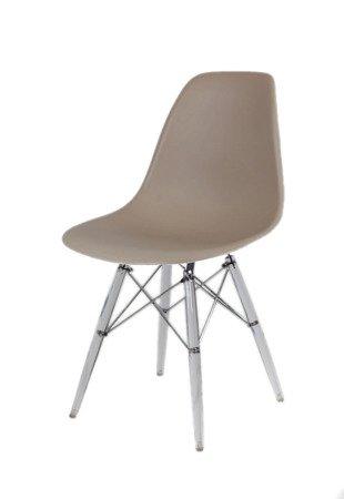 SK Design KR012 Mild Grey Chair, Clear Legs