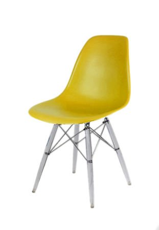 SK Design KR012 Olive Chair, Clear legs
