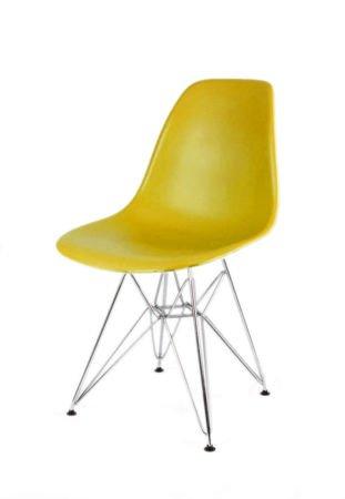 SK Design KR012 Olive Green Chair, Chrome legs