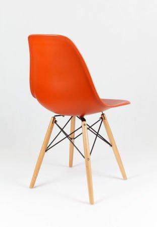 SK Design KR012 Orange Chair, Beech Legs