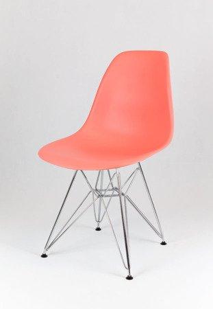 SK Design KR012 Pink Chair, Chrome legs