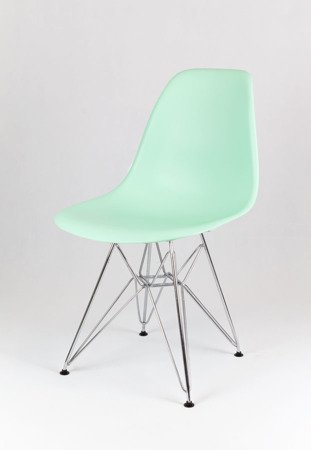 SK Design KR012 Pistachio (Green) Chair, Chrome legs