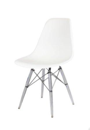 SK Design KR012 White Chair Clear
