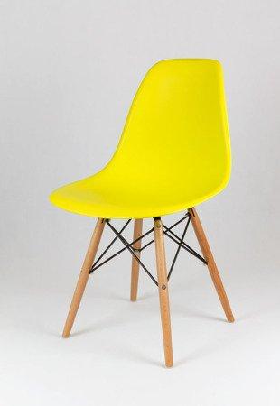 SK Design KR012 Yellow Chair, Beech legs