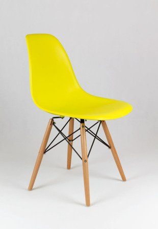 SK Design KR012 Yellow Chair, Beech legs