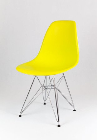 SK Design KR012 Yellow Chair, Chrome legs