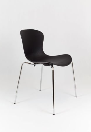 SK Design KR019 Black Chair on Metal Frame