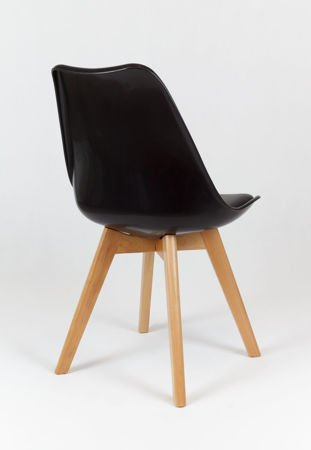 SK Design KR020 Black Chair with Polypropylene and Cushion