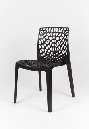 SK Design KR026 Black Openwork Polypropylene Garden Chair