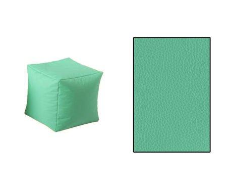 SKN Cubes Pouf Celadon