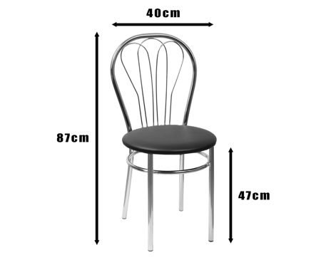 SKN Jowisz Venge Chair, Chrome Legs