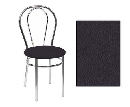 SKN Mars Black Chair, Chrome Legs