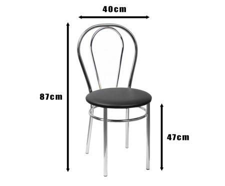SKN Mars, Light Grey Chair, Chrome legs