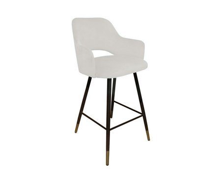 Upholstered STAR hoker material in ivory color MG-50 with golden leg