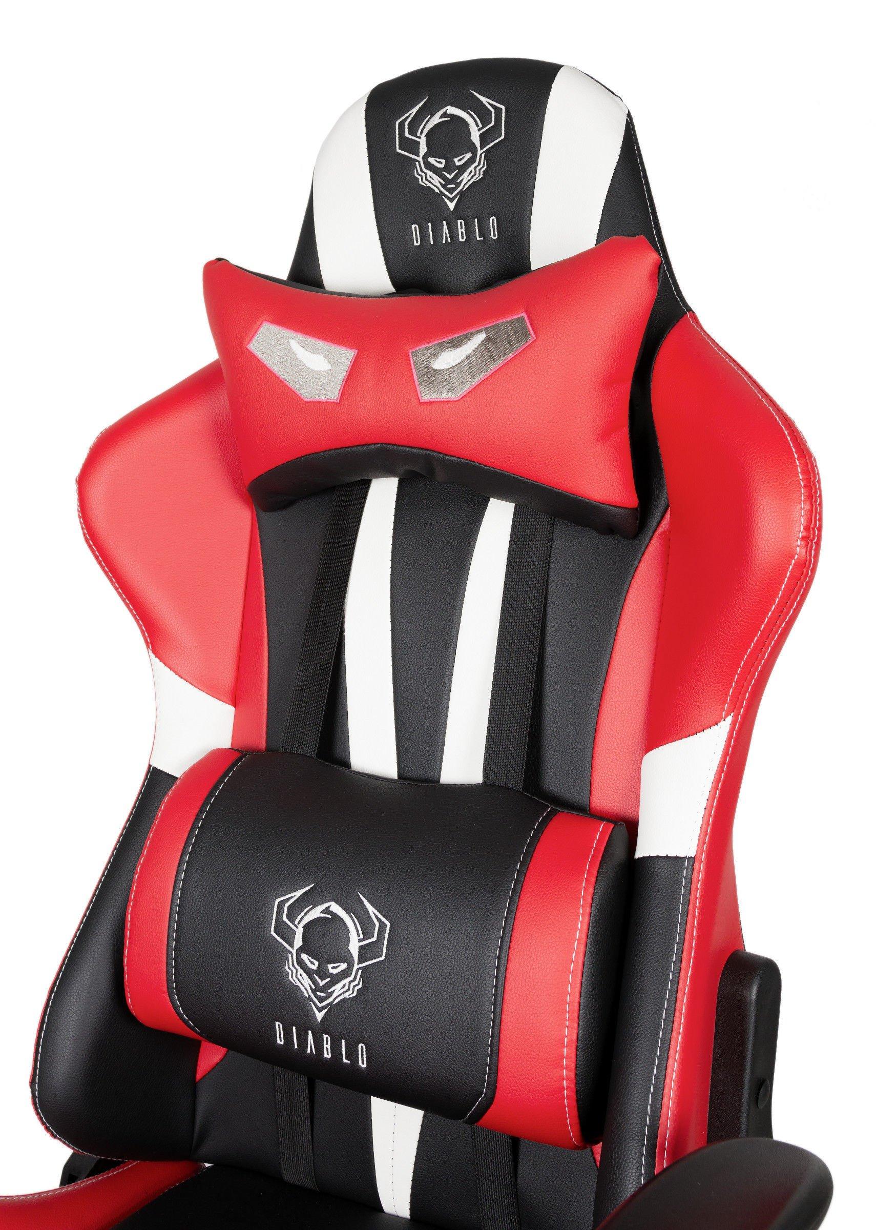 Diablo X Eye Schwarz und Rot Gaming Sessel Rot Schwarz