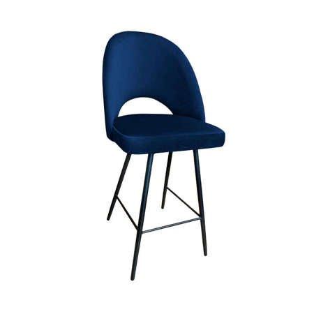 Blau gepolsterter Stuhl LUNA Material MG-16