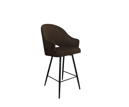 Dunkelbrauner gepolsterter Sessel DIUNA Sessel Material MG-05