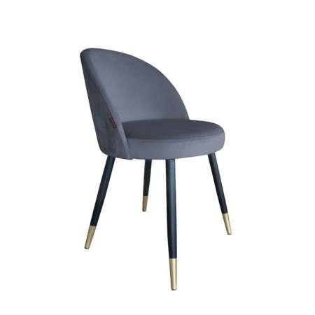 Dunkelgrau gepolsterter Stuhl CENTAUR Material BL-14 mit goldenen Bein