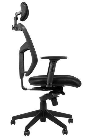 Fotel biurowy gabinetowy z wysuwem siedziska JAWA krzesło biurowe obrotowe czarne
