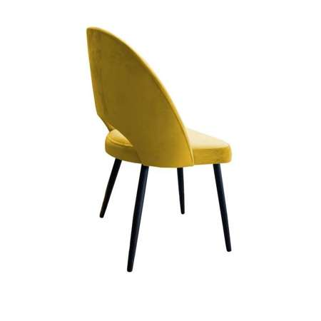 Gelb gepolsterter Stuhl LUNA Material MG-15