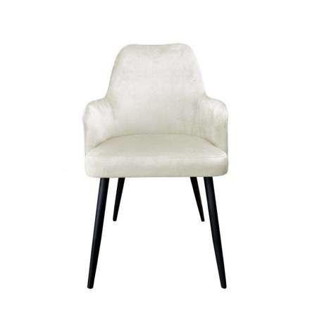 Gepolsterter Stuhl PEGAZ aus elfenbeinfarbenem Material MG-50