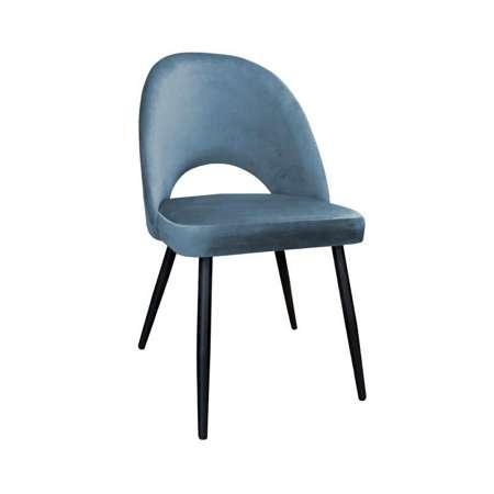 Grau-blau gepolsterter Stuhl LUNA Material BL-06