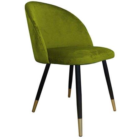 KALIPSO Stuhl grün oliv Material BL-75 mit goldenen Beinen