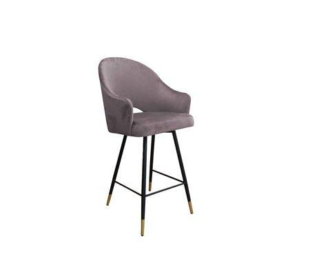 Rosa gepolsterter Sessel DIUNA Sessel Material MG-55 mit goldenem Bein