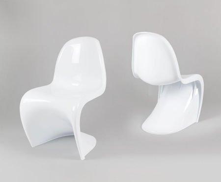 SK Design KR017 Weiss Stuhl Glanz