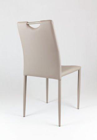 SK Design KS006 Beige Kunsleder Stuhl mit Beine aus Kunstleder