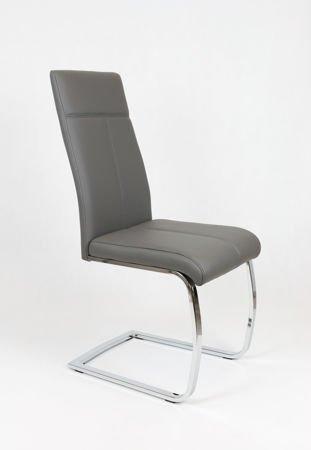 SK DESIGN KS028 BEIGE Kunsleder Stuhl mit Chromgestell