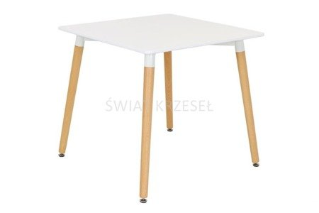 SK DESIGN ST04 WEISS TABELLE 80 x 80 cm