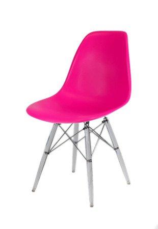 SK Design KR012 Dunkelrosa Stuhl Clear