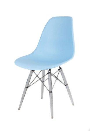 SK Design KR012 Hellblau Stuhl Clear