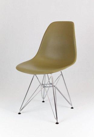 SK Design KR012 Khaki Stuhl, Chrom