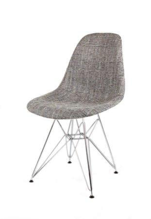 SK Design KR012 Polster Stuhl Lawa05, Chrom Beine