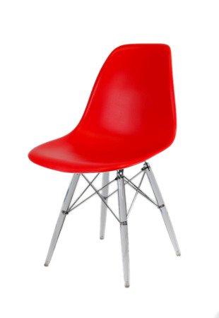 SK Design KR012 Rot Stuhl Clear