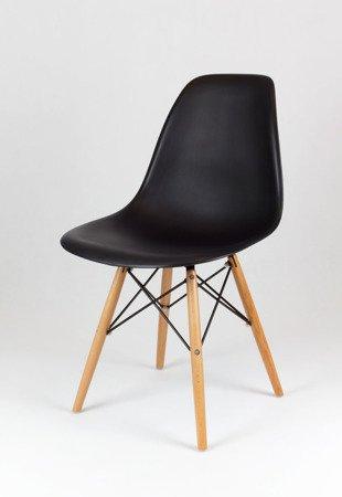 SK Design KR012 Schwarz Stuhl Buche