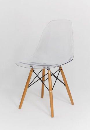 SK Design KR012 Transparent Stuhl, Buche