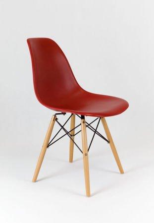 SK Design KR012 Ziegelrot Stuhl Buche
