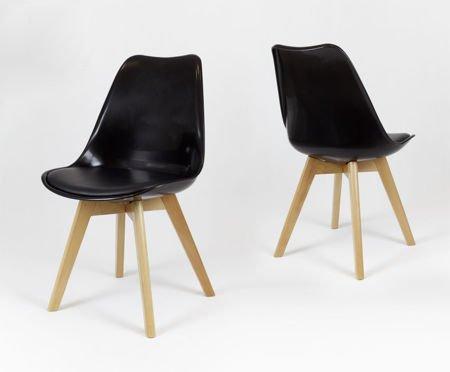SK Design KR020 Schwarz Stuhl mit Polypropylen und Kissen