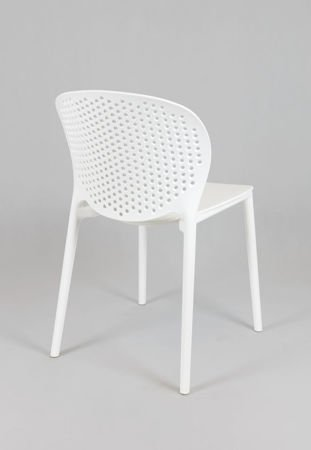 SK Design KR033 Weiss Stuhl aus Polypropylen