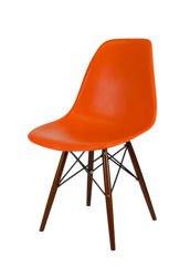 SK Design KR012 Pomarańczowe Krzesło, Nogi wenge