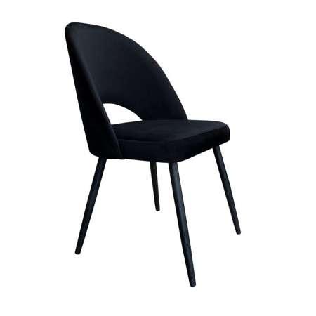 Czarne tapicerowane krzesło LUNA materiał MG-19