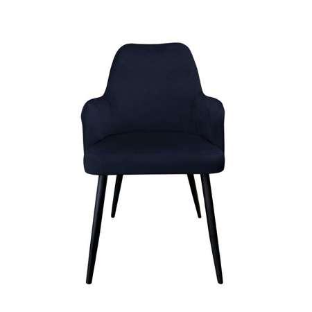 Czarne tapicerowane krzesło PEGAZ materiał MG-19