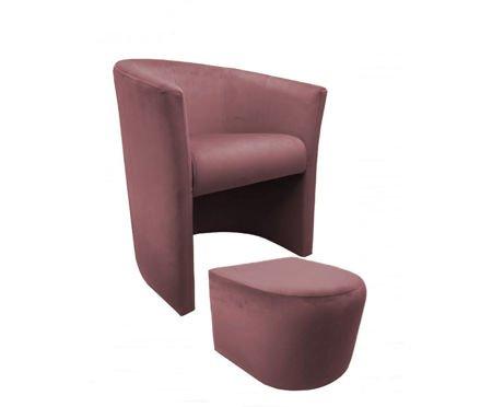 Fotel CAMPARI z podnóżkiem Magic Velvet 58