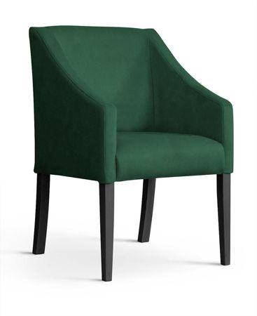 Fotel CAPRI zielony/ noga czarna/ BL78