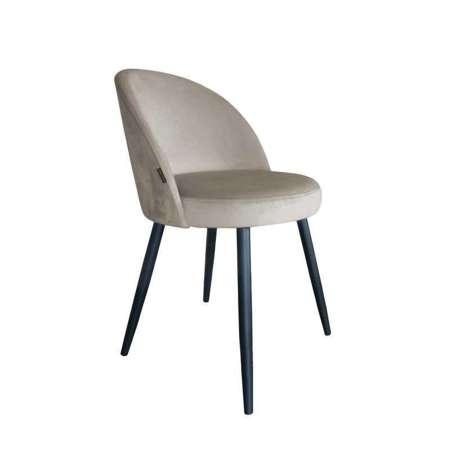 Jasnobrązowe tapicerowane krzesło CENTAUR materiał MG-09