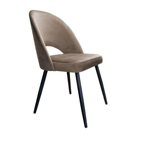 Jasnobrązowe tapicerowane krzesło LUNA materiał MG-09