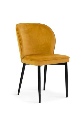 Krzesło AINE miodowy/ noga czarna/ BL68